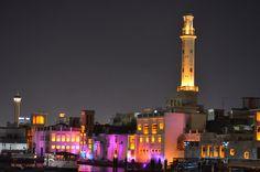 Creek Dubai night Willis Tower, Cn Tower, Nikon, Dubai, Building, Travel, Viajes, Buildings, Trips