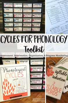 Everything you need to set up, plan, and implement cycles for phonology! Includes progress monitoring too! From Speechy Musings.