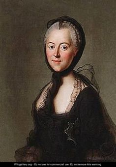 catherine the great | Portrait Of Catherine The Great In Mourning - Russian School ...
