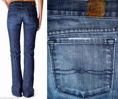 Lucky Brand Zoe Jean Distressed Embroidered Back Pockets Stretch 6/28 USA *EUC* #LuckyBrand #BootCutSlightFlare