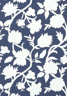 Powder room- CABRERA, Navy, T35141, Collection Graphic Resource from Thibaut