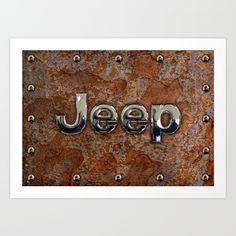 Rustic Jeep ART PRINT #artprint #digitalart #digitalpainting #artdesign #rustic #jeep #steampunk #logo #typograph #wrangler #landrover #car #abstract #volkswagen #vehicle #autocar #suv #offroad #rangerover #4x4