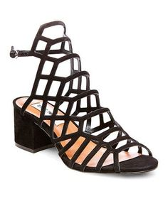 Another great find on #zulily! Black Nubuck Ira Leather Sandal #zulilyfinds