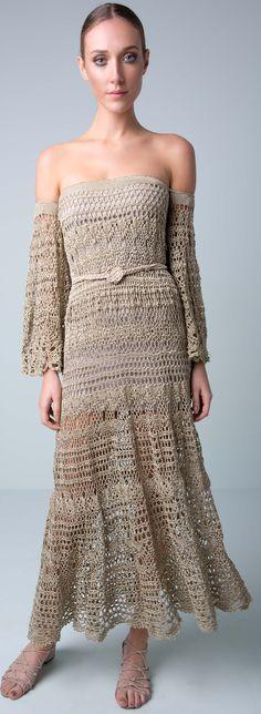 Giovana Dias - crochet maxi dress