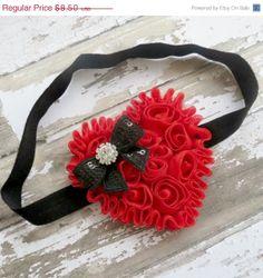 SALE Baby Girl Headband Valentine Headband by AddysAtticOnEtsy, $7.23