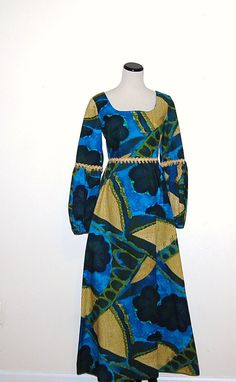 Vintage Dress Hawaii Couture Print by CheekyVintageCloset on Etsy, $44.00