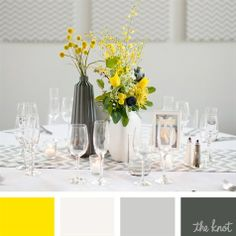 Yellow, White, Gray, Charcoal Color Palette