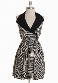 Not normally a fan of halter dresses or tops, but this collar and print are awesome.