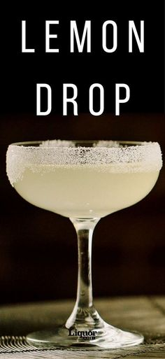 Lemon Drop - Remember the old-timey hard lemon candy found in homes around the country? This cocktail is the adult equivalent of that childhood favorite. It combines citrus, orange liqueur and for the perfect blend of tart and sweet. Cocktails Vodka, Beste Cocktails, Summer Cocktails, Cocktail Drinks, Alcoholic Drinks, Sweet Cocktails, Martinis, Popular Cocktails, Lemon Vodka Drinks