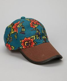 Take a look at this Lagoon Blue Floral Baseball Cap by The Sak on #zulily today! $11 !!