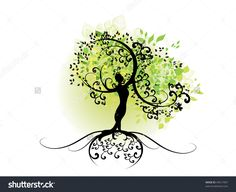 woman tree silhouette - Google Search