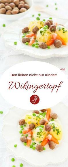 Fleisch Rezepte, Hausmannskost Rezepte: Rezept für Wikingertopf von herzelieb.  So lecker, schnell  und einfach! Schmeckt nicht nur Kindern! #rezept #fleisch #kinder #herzelieb #foodblog