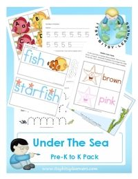 under the sea Pre-K to K Pack
