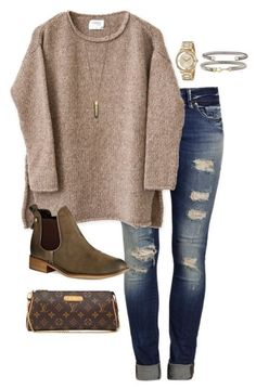 #fall #outfits / slim fit jeans + knit sweater