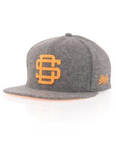 Superdry Melton snapback cap