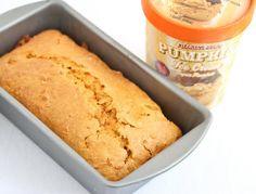 Two Ingredient Pumpkin Ice Cream Bread | Kirbie's Cravings | A San Diego food blog