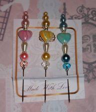 3 hat/stick pins for cardmaking or scrapbooking would suit Magnolia Tilda,LOTV