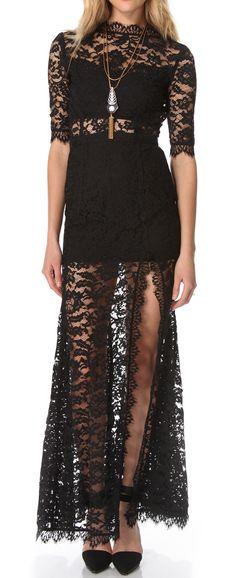 #Lace #split #gown