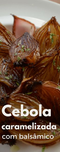 Cebola pérola Caramelizada com aceto balsâmico e tomilho