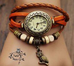 Relojes en cuero