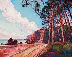 Oregon coastal landscape oil painting by Erin Hanson