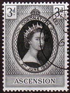 Ascension Islands Queen Elizabeth II 1953 Coronation Fine Used SG 56 Scott 61 Other West Indies and British Commonwealth Stamps HERE!