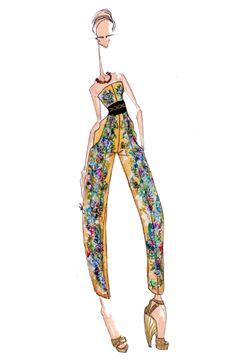 Ideas For Fashion Drawing Dresses Alexander Mcqueen Couture Fashion, New Fashion, Fashion Art, Winter Fashion, Fashion Show, Vintage Fashion, Fashion Design, Fashion Drawing Dresses, Fashion Sketches