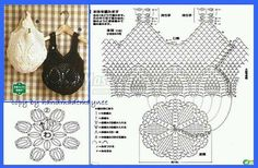 """crohcet shoppin gbags with pienapple [ """"Crochet Designs Free: For those who love crochet bag I found three beautiful bags with revenue."""", """"Crochet Bags with Pineapple motif free pattern. Crochet Diagram, Crochet Chart, Love Crochet, Filet Crochet, Diy Crochet, Crochet Top, Crochet Motif, Beautiful Crochet, Single Crochet"""