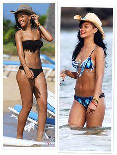 Rihanna's 10 BEST Fringed Two-Piece Bikini's! [Photos]
