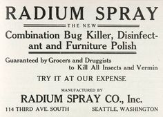 Radium -- all this and a FURNITURE POLISH, too!