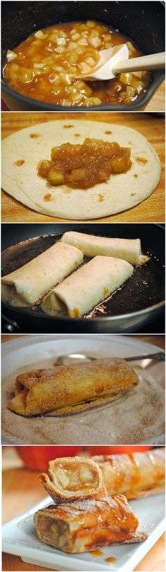 Cinnamon Apple Dessert Chimichangas - knowkitchen