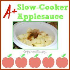 A+ Slow-Cooker Applesauce - super simple recipe similar to Cracker Barrel's Fried Apples