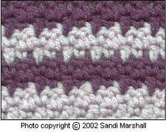 Up-Down Stitch How-to Pattern of Single and Double Crochet