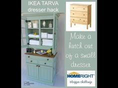 DIY Transformer une commode Ikea en pin. (http://www.myrepurposedlife.com/2014/10/ikea-tarva-hack-challenge.html)