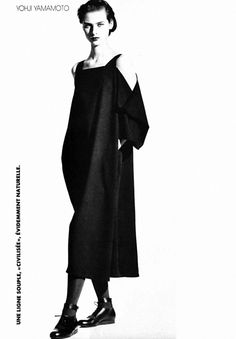 l'officiel magazine 1989 | clothes by Yohji Yamamoto | Photograpahed by Christian Moser