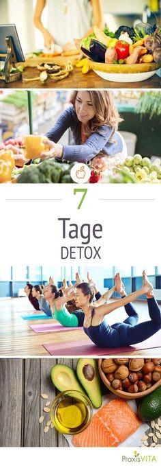 Mit dem 7-Tage-Detox-Programm kommst Du schnell wieder in Form.