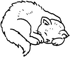 sleeping cat curls up in a ball coloring page from cats category select from 24104 printable crafts of cartoons nature animals bible and many more