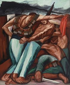 "José Clemente Orozco (Mexican, 1883–1949) Barricade Date: 1931 Medium: Oil on canvas Dimensions: 55 x 45"" (139.7 x 114.3 cm)"