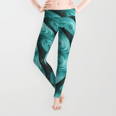 Teal Shimmer - Pattern #3 Leggings