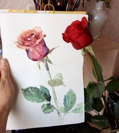 Quick sketch Заскетчила розу, заполнив тем самым разворот в #книга_цветов_svekla  Рисовала, держа альбом навесу-вот еще одна прелесть скетчбука в твердой обложке. А бумагу вновь и вновь ругала-#kroyter просто ужасен! Оправдываю себя тем, что шила альбомчик из кройтера для легких быстрых скетчей. #art_flowers_svekla #rose#sketch