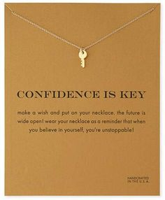 Gold Plated Sparkling Key Pendant Necklace - onefav.store