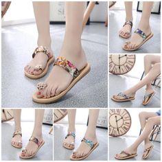 8d80fc2c6de  8.36 Fashion-Summer-Flat-Flip-Flops-Women-039-s-Sandals-Loafers-Bohemia- Slippers-Shoes