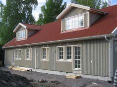Älvsbytaloja voi rakentaa myös paritaloina. Shed, Outdoor Structures, Barns, Sheds