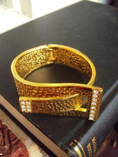 Jewelry & Watches Motivated Vintage Kjl Kenneth Jay Lane Style Faux Orange Coral Clamper Bracelet Jewelry