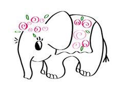Embroidery Pattern of Designer Elephant by Elefantz Designs at Elefantz.com. jwt
