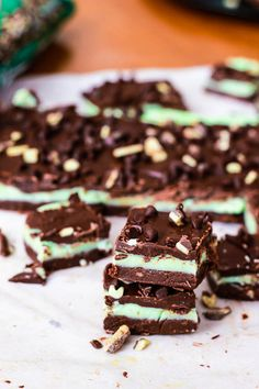 Andes Mint Chocolate Chip Fudge by Sallys Baking Addiction