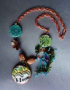 The 'Bloom' necklace. Soup sent to me by Lori Bowring Michaud