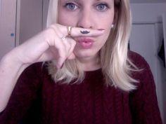 Soyez une vraie MO SISTA   http://www.mode34b.com/blog/soyez-une-mo-sista-26653/  Smudge paint Glitzy Black pour ma moustache #AnnabelleMovember