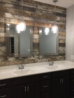 pendant lights over vanities are a favorite of mine interiordesign