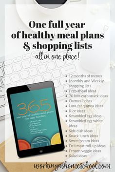 One full year of gluten-free meal plans, shopping lists, and more!